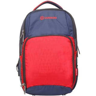 Harissons Ergo Red Polyester Backpack