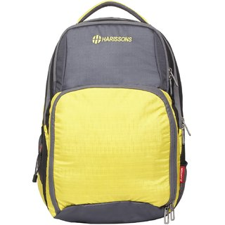 Harissons Ergo Yellow Polyester Backpack