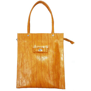 Faizal Leather Made Shoulder Bag for Girls-Brown Colour