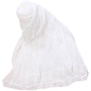 Womens Cotton Dupatta (White)