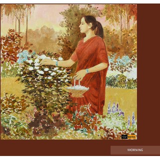 Art Tantra Fine Art Canvas Painting Morning