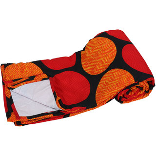 N decor  Fiber  Dohar/Ac Blanket  set for  Double Bed  (1 piece)-Orange
