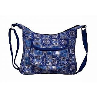 Vivinkaa Blue Printed Handbag