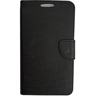 Colorcase Flip Cover Case for Micromax Juice 3 Q392 - Black