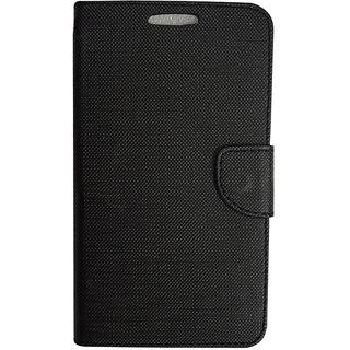 Colorcase Flip Cover Case for Micromax Yu Yunique - Black