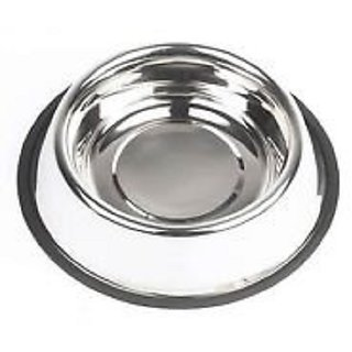 ADVANCE PET PRODUCT Round Stainless Steel Pet Bowl  Bottle