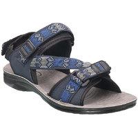 Action Floaters MenS Blue Velcro Sandals