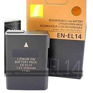 Buy En El14 Rechargeble Lithium Ion Battery For Nikon D5100 D3100