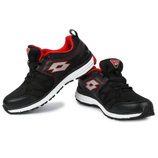Lotto Santiago Ii MenS Black  Red Lace-Up Sport Shoes