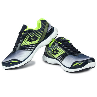 Lotto Proride Ii MenS Black  Light Green Lace-Up Sport Shoes
