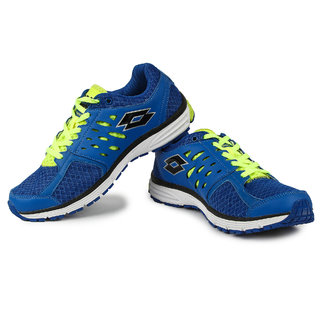 Lotto Santiago Ii MenS Blue  Green Lace-Up Sport Shoes