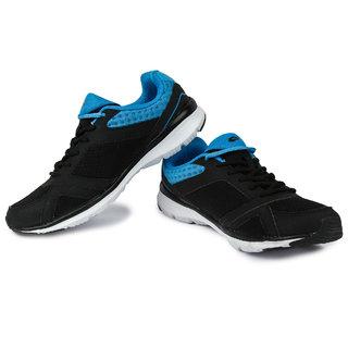 Lotto Sunrise Iii MenS Black  Blue Lace-Up Sport Shoes