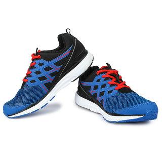 Lotto Roadrunner MenS Blue  Black Lace-Up Sport Shoes