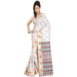 Sanju Saree Fashionable Beige Color Cotton Silk Saree