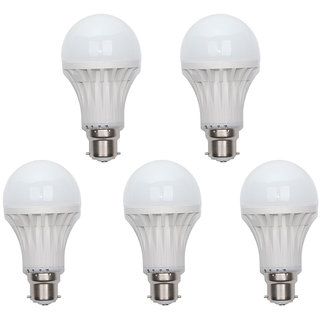 AVE 7 Watt Led Bulb - Pack Of 5 pcs Each.