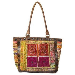 Vintage Banjara Women Leather Big Sholder Bag