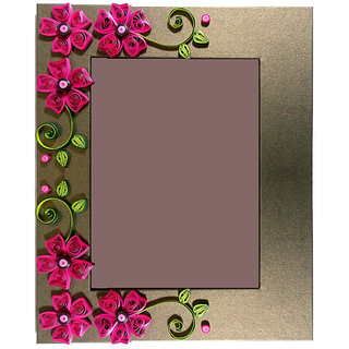 Handmade Quilling Photo Frame 011 For Home Decor With Multi Colour