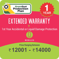 GreenDust Protection Plan for Mobiles (Rs. 12001-14000), 1 year-Delivery by Email
