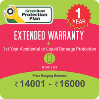 GreenDust Protection Plan for Mobiles (Rs. 14001-16000), 1 year-Delivery by Email