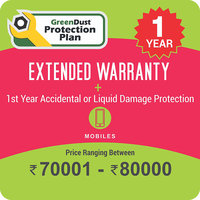 GreenDust Protection Plan for Mobiles (Rs. 70001-80000), 1 year-Delivery by Email