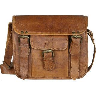 The Backbencher Vintage Leather Unisex Sling Bag