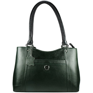 Moochies Ladies Genuine Leather Purse-Green  Aristocratic
