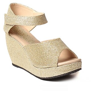 Hansx Women's Gold Wedges