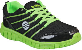 Action MenS Black  Green Lace Up Sports Shoes