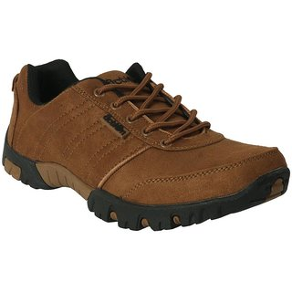 Action Dotcom MenS Brown Casual Lace Up Shoes
