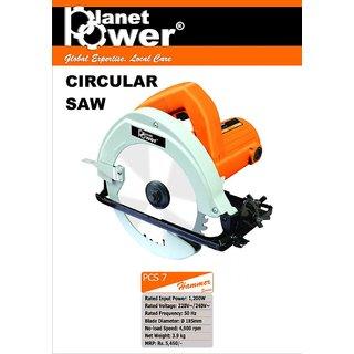 Planet Power Pcs 7 1200W  Blade Diameter -185Mm 4900Rpm Circular Saw