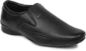 Action Dotcom MenS Black Formal Slip On Shoes