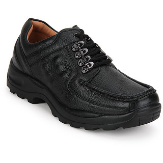 Action Dotcom MenS Black Casual Lace Up Shoes
