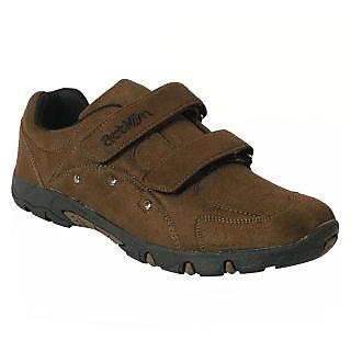 Action Dotcom MenS Dark Green Casual Velcro Shoes