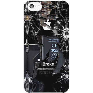 Dreambolic Broken-Rupture-Damaged-Cracked- back Cover For Apple Iphone 5C