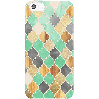 Dreambolic Charcoal-Mint Moroccan-Pattern  back Cover For Apple Iphone 5C