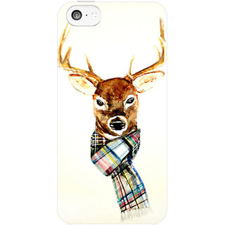 Dreambolic Deer-Buck-With-Winter-Scarf  back Cover For Apple Iphone 5C
