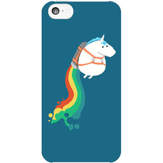 Dreambolic Fat-Unicorn-On-Rainbow-Jetpack  back Cover For Apple Iphone 5C