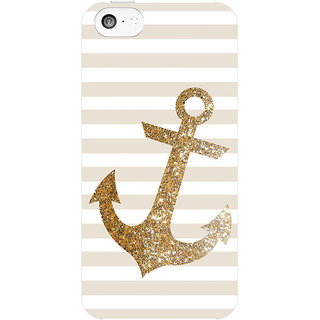 Dreambolic Glitter-Anchor-In-Gold  back Cover For Apple Iphone 5C