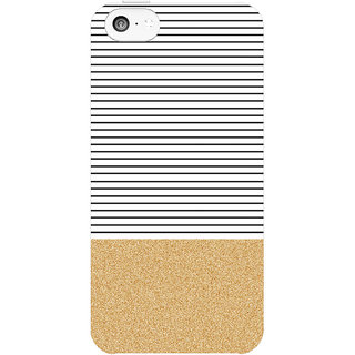 Dreambolic Minimal-Gold-Glitter-Stripes1  back Cover For Apple Iphone 5C
