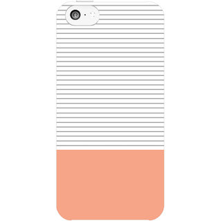 Dreambolic Minimal-Gray-Stripes---Coral  back Cover For Apple Iphone 5C