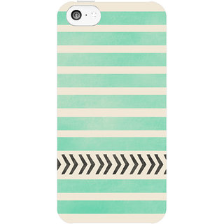 Dreambolic Mint-Stripes-And-Arrows  back Cover For Apple Iphone 5C
