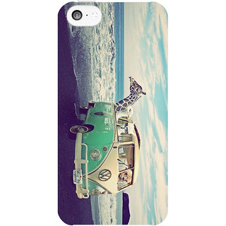 Dreambolic Never-Stop-Exploring-The-Beach  back Cover For Apple Iphone 5C