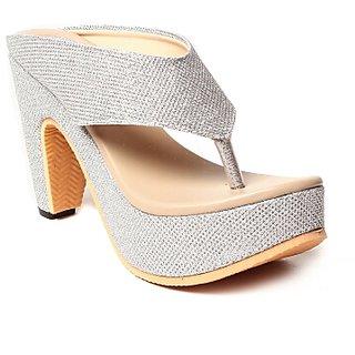 Hansx Women's Silver Heels
