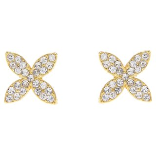 Floral Austrian diamond Gold plated stud earring for Dailywear by Shriya