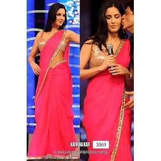 katrina pink saree