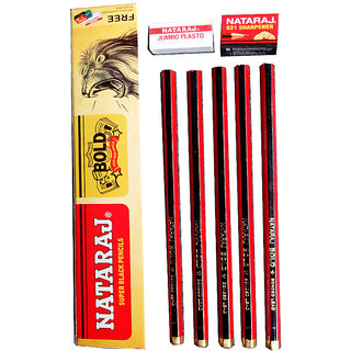 Nataraj Bold Super Black Pencil Pack of - 10