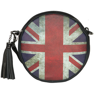 The Backbencher Union Jack Round Sling Bag