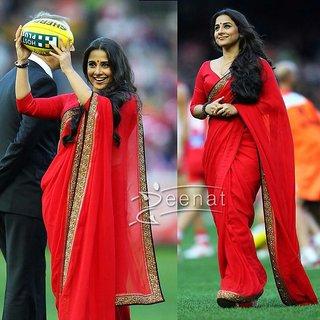 Vidya Balan Red Indian Saree