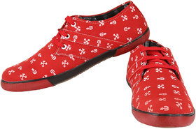 Exotique Mens Red Sneaker-Casual Shoe (EX0025RD)