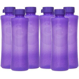 GPET Daffodil BPA Free Fridge Water Bottle 1 ltr Purple  Set of 6